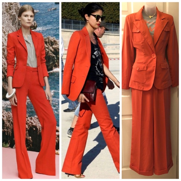 Metrostyle Jackets Coats Burnt Orange Suit Set 4 Poshmark